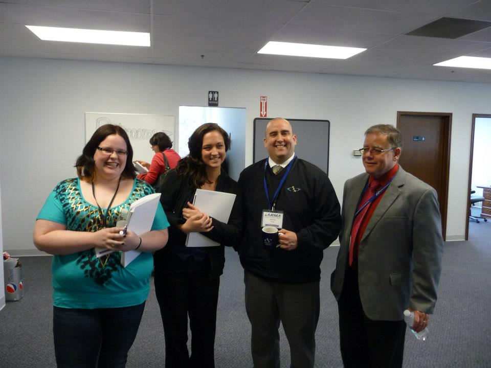 Some Of The GRCC Students Ho Attended With Andrew Ysasi, CRM, And Mr. John Montaña - At Kent Record Management, Inc.